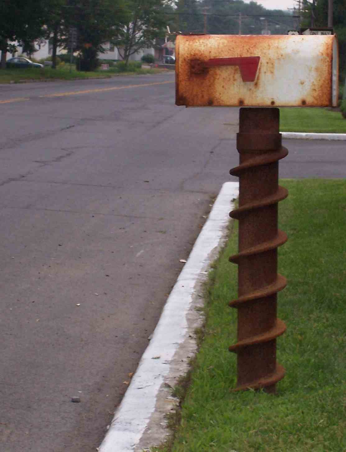 wood mailbox posts. Example Of Mailbox Erected Using A Steel Pole Wood Posts