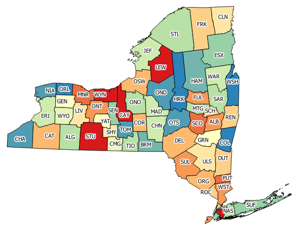 New York State County Map Local Highway Inventory – County Roads