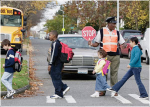 Safe Routes to School image, @Andersen Ross/Blend Images/Corbis