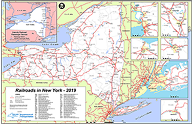 State Map Of New York.Map Of New York State Railroads