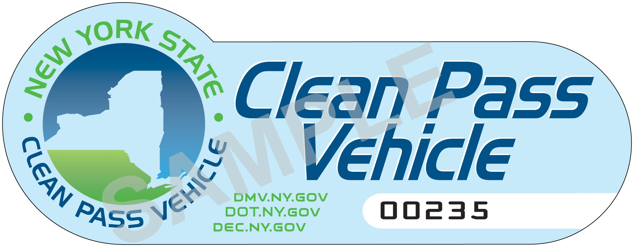 Image result for new york clean pass sticker CAV