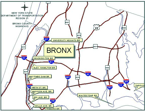 Highways in Bronx County