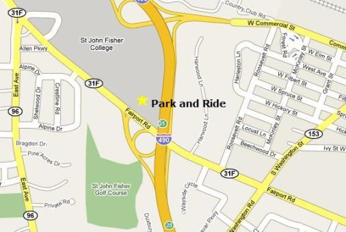Map of Pittsford Park & Ride Lot
